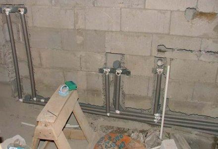 монтаж на водопровод